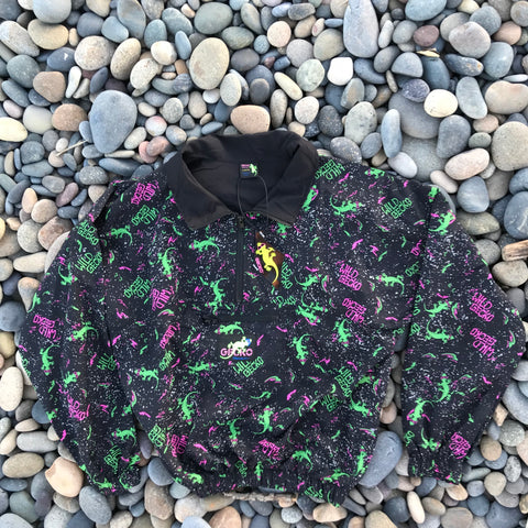 Gecko Neon Splatter Windbreaker Black