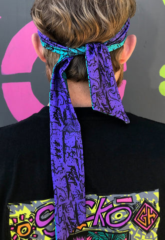 RiFF RAFF x GECKO REVERSiBLE AQUABERRY HEADBAND