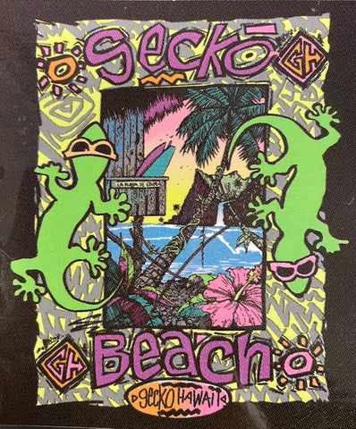 Gecko Beach Sticker