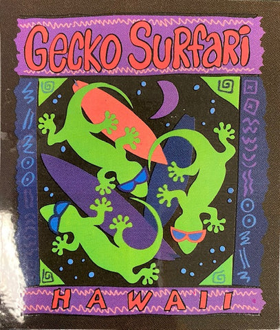 Gecko Surfari Sticker