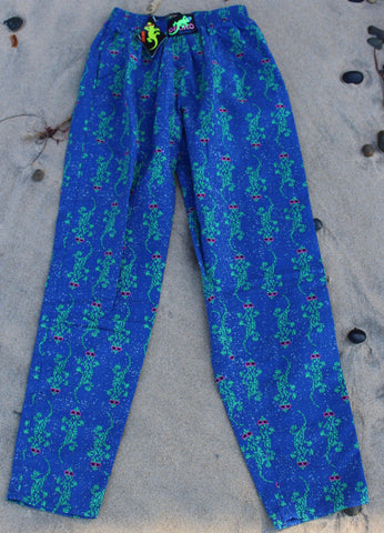 Gecko Hawaii 90s Camo Beach Pants - Light Blue