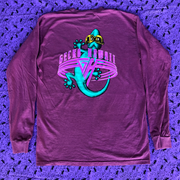 Gecko World 90s Berry - Classic Fit Long Sleeve Pigment Tee
