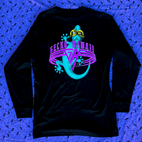Gecko World - Black Long Sleeve Tee