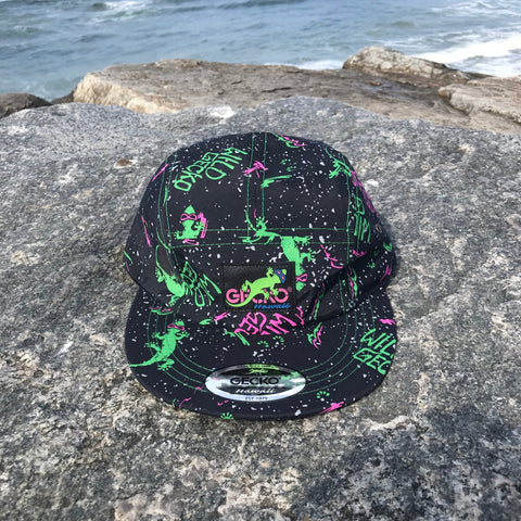 Gecko Neon Splatter Five Panel Hat