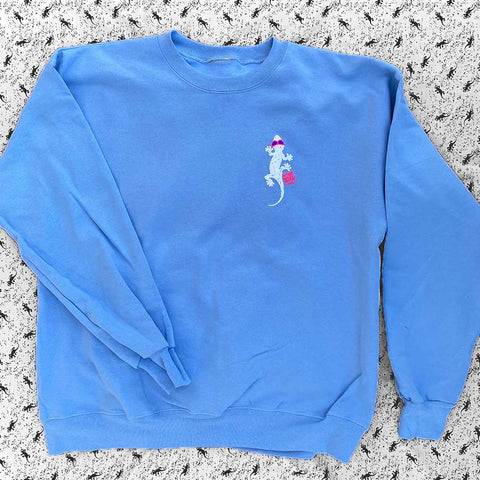 Deconstructed Gecko - 80s Powder Blue Secret Pullover
