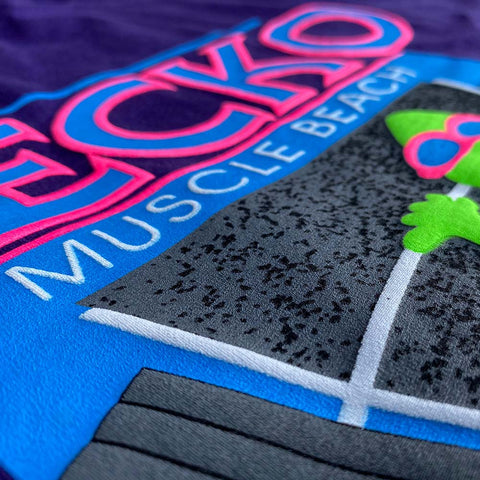 Gecko Muscle Beach 80s Grape SMASH Tee