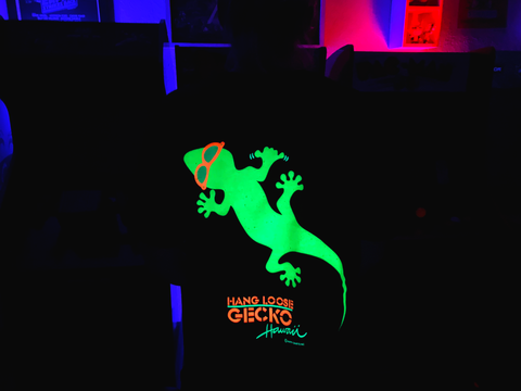 Gecko Hang Loose Black (GLOW In The Dark!)