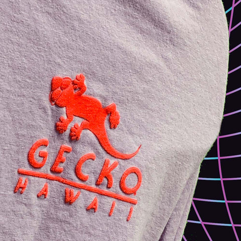 Gecko Blend - Lilac - Puff-Ink Long Sleeve Pigment Tee