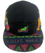 "The ""Milo"" Gecko Hawaii Retro 5 Panel Hat"
