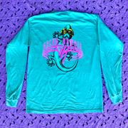 Gecko World - SeaFoam Green - Classic Fit Long Sleeve Pigment Tee