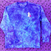 Deconstructed Gecko - 80s Blurpleberry Crystal Dye Pullover