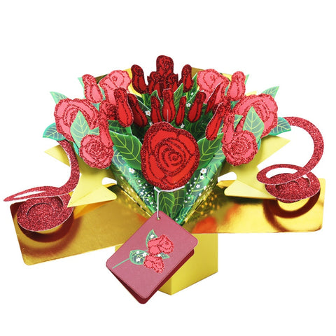 3D Roses Greeting Card