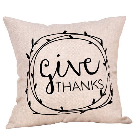 Give Thanks Throw Pillowcase