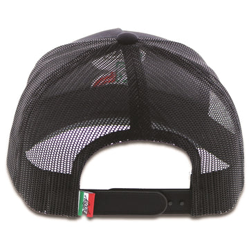 Boquillas Hooey Black / Black Mesh 5-Panel Trucker With Embroidered Logo