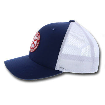 """El Camino"" Hooey Blue / White 6-Panel Trucker with Patch - OSFA"