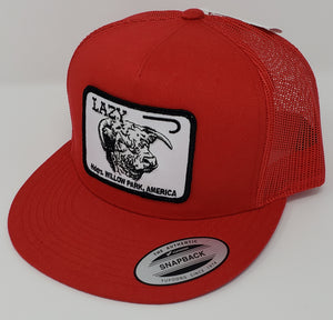 "Solid Red Headquarters Patch Cap (4"")"