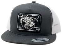 "Grey and White Elevation Hereford Patch Cap (4"")"