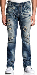Affliction Blake Fleur Hunter 110RS286 New Relaxed Straight Denim Jeans For Men