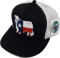 "Grey and White Texas Flag Hereford Patch Cap (4"")*"