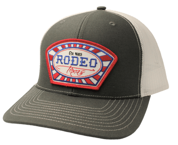 Rodeo Texas Charcoal White
