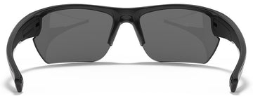 Under Armour Propel Sunglasses with Shiny Black Frame and Gray Lens