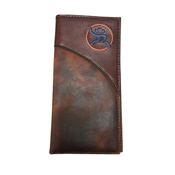 Hooey Western Mens Roughy Wallet Rodeo Leather Logo Brown 1871137W2