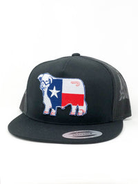 "Black and Black Texas Flag Patch Cap ""4""**"