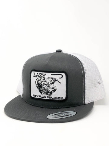 "Lazy J Ranch Wear Gray & White 4"" Cattle Headquarters"