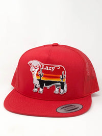 "Lazy J Ranch Wear Red & Red 4"" Sunrise Cactus Bull"