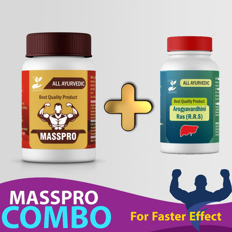 Mass Pro Combo - Ayurvedic 30 days Weight Gainer for Men & Women