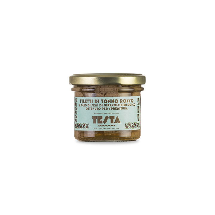 Blue Fin tuna fillets in organic cold pressed sunflower oil - 190gr