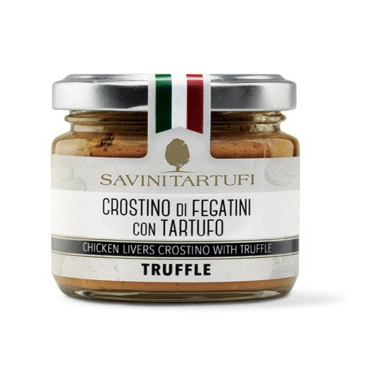 Chicken livers crostino with truffle - 90g