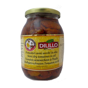 "Semi dried Tomatoes in Oil ""Dilillo"" 1062ml/jar"