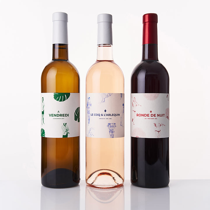 Combination 3 Wines: White, Rose, Red