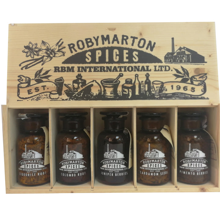 Roby Marton Gin - Spice Jar Set in wooden box