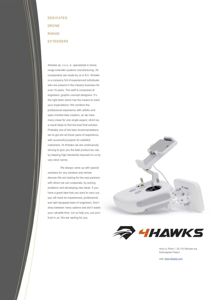 4Hawks Raptor SR For Inspire 1 Pro Raw 2.0