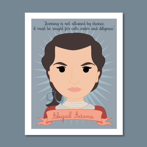 Sheroes Collection: Abigail Adams 8x10 Art Print