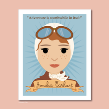 Load image into Gallery viewer, Sheroes Collection: Amelia Earhart 8x10 Art Print