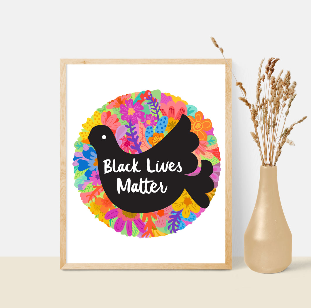 FUNDRAISER Black Lives Matter 8x10 Art Print 100% Donation