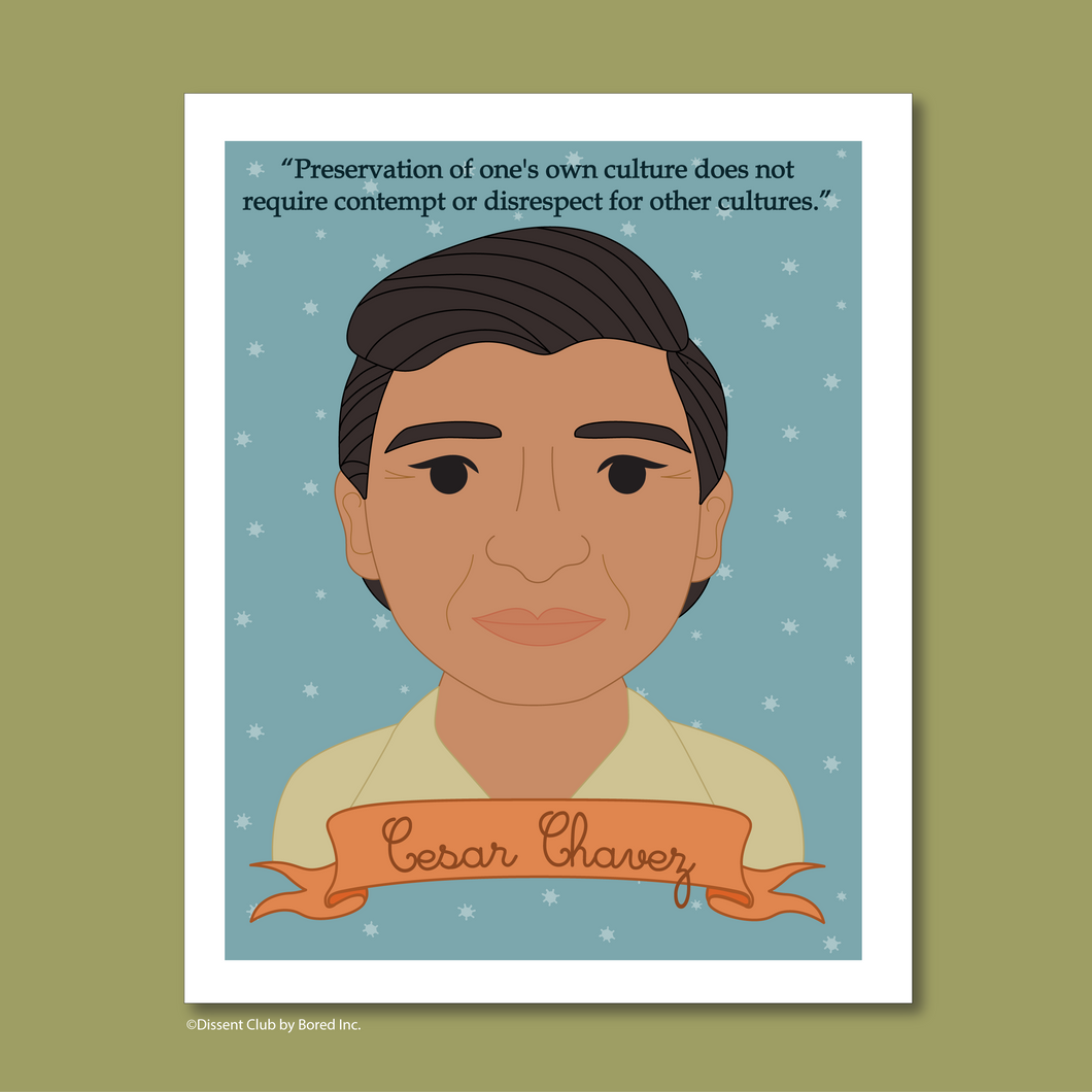 Heroes Collection: Cesar Chavez 8x10 Art Print