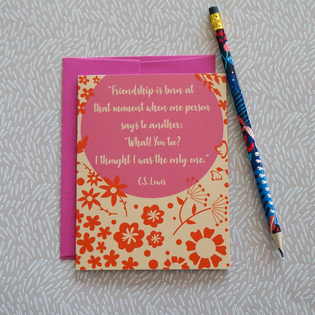 Friendship C.S. Lewis Quote Greeting Card
