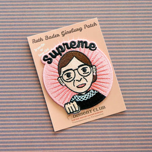 Supreme RBG Ruth Bader Ginsburg Embroidered Patch