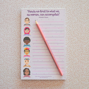 Famous Women in History Sheroes Notepad
