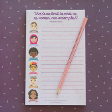 Load image into Gallery viewer, Famous Women in History Sheroes Notepad