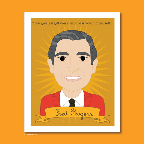 Heroes Collection: Fred Rogers 8x10 Art Print