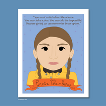 Load image into Gallery viewer, Sheroes Collection: Greta Thunberg 8x10 Art Print