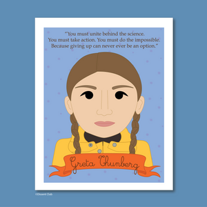 Sheroes Collection: Greta Thunberg 8x10 Art Print