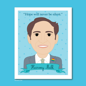 Heroes Collection: Harvey Milk 8x10 Art Print