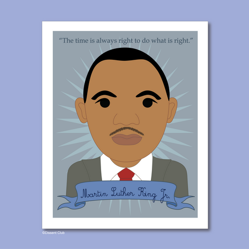 Heroes Collection: Martin Luther King Jr. 8x10 Art Print