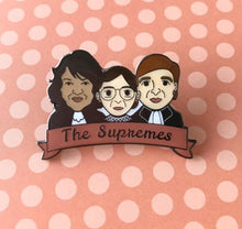 Load image into Gallery viewer, The Supremes: Women of the SCOTUS Sotomayor, Ginsburg & Kagen Enamel Pin